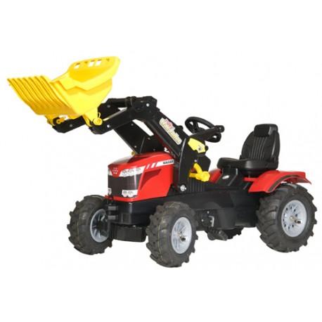 Tracteur-Massey-Ferguson-8650-avec-pelle-et-pneus-souples