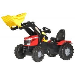 Tracteur-Massey-Ferguson-8650-avec-pelle-avant