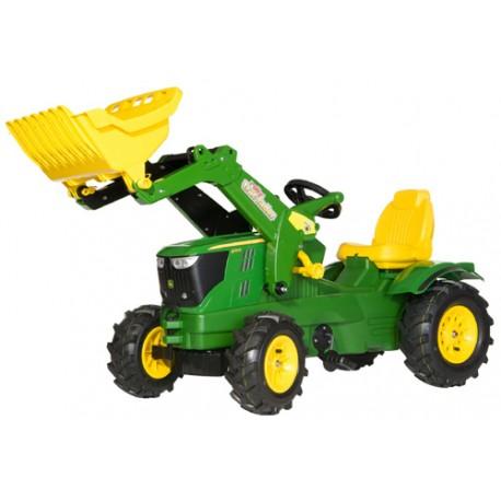 Tracteur-John-Deere-6210-R-avec-pelle-et-pneus-souples