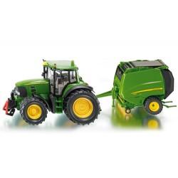 Tracteur-JD-7530-avec-presse-JD-990