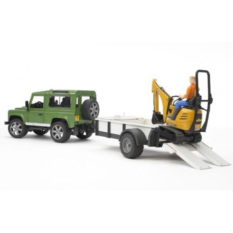 4x4-Land-Rover-avec-remorque-et-mini-pelle-JCB