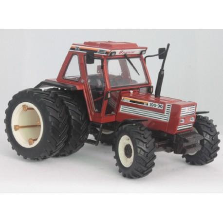 Tracteur-Fiat-100-90-jumelé-arrière