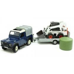 4x4-Land-Rover-avec-remorque-et-chargeur-Bobcat