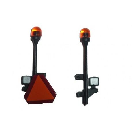 Lot de 2 gyrophares avec phares et triangle de Valtra N