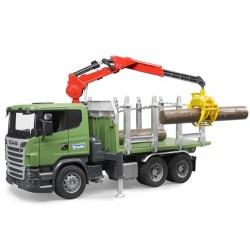Camion transport de bois Scania avec grue