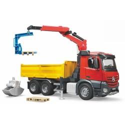 Camion benne MB Arocs avec grue