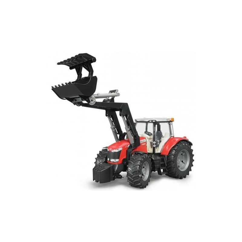 Tracteur massey ferguson 7624 avec fourche bruder bru03047 tracteur avec chargeur bruder minitoys - Tracteur avec fourche ...