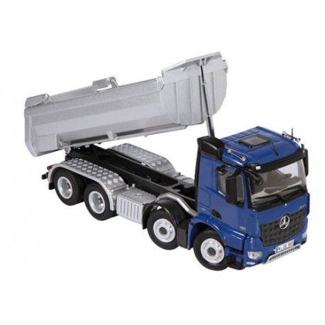 Camion benne TP MB Arocs 8x4 bleu
