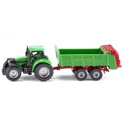 Tracteur Deutz Agrotron avec épandeur