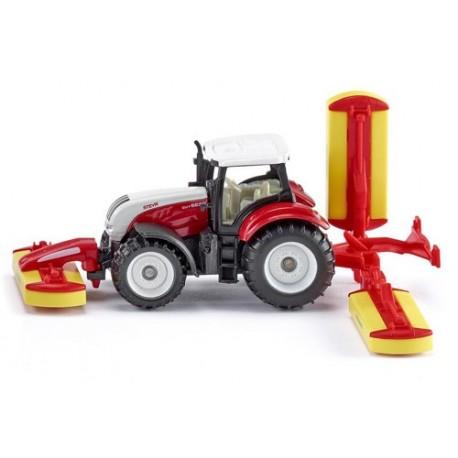 Tracteur Steyr avec combinaison de faucheuses Pottinger