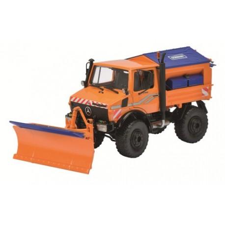 MB Unimog U1600 déblayeuse orange