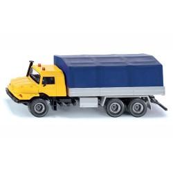 Camion MB Zetros avec plate-forme et bâche