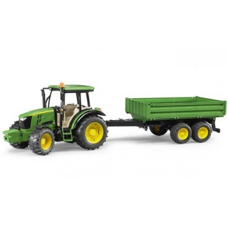 Tracteur JD 5115M avec remorque