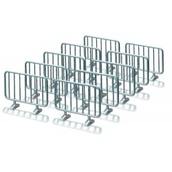Lot de 10 barrières 1/32 en métal - Siku