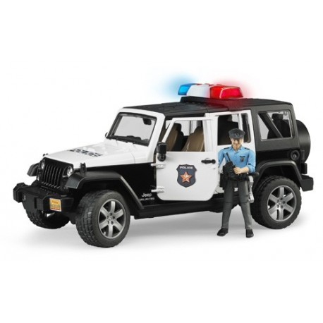 Jeep Wrangler de police avec policier