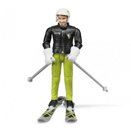 Skieur avec accessoires