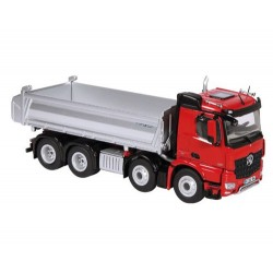 Camion benne MB Arocs 8x4 rouge/argent