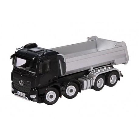 Camion benne MB Arocs 8x4 halfpipe noir/argent
