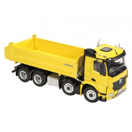 Camion benne MB Arocs 8x4 jaune