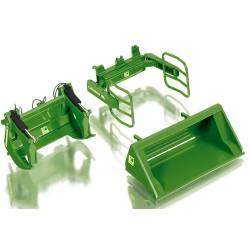 Accessoires pour chargeur frontal Wiking vert JD (set A)
