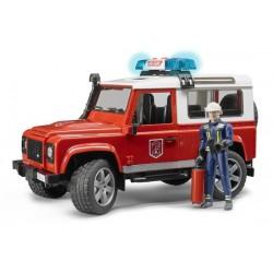 Land Rover Defender service incendie avec pompier