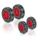 Set de roues avec chaînes pour Fendt 828 - Wiking
