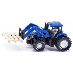 Tracteur NH avec fourches à palettes