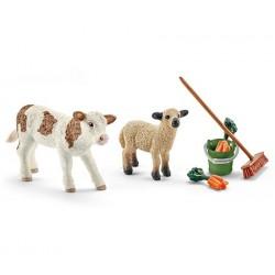 Kit nettoyage étable avec veau et agneau