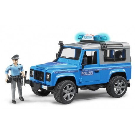 Land Rover Defender de police avec policier
