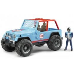 Jeep cross bleue avec chauffeur