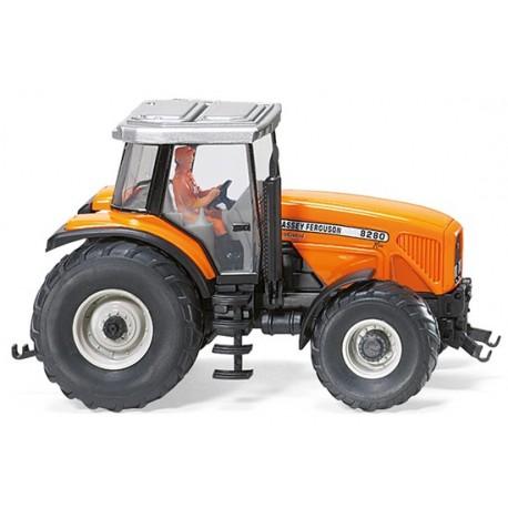 Tracteur MF 8280 orange avec chauffeur