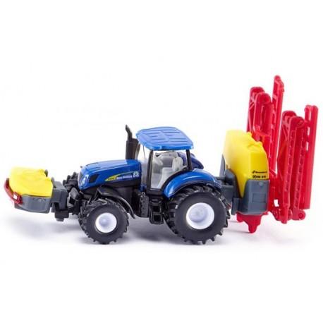 Tracteur NH avec pulvérisateur Kverneland