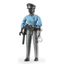 Femme policier noire avec accessoires