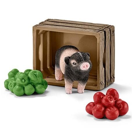 Mini-cochon avec pommes Schleich