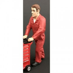 Figurine homme poussant (rouge)