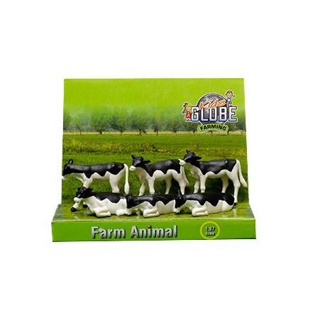 Set de 6 veaux Holstein (1/32)