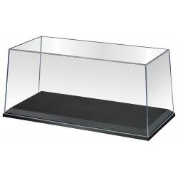 Boîte vitrine avec socle noir