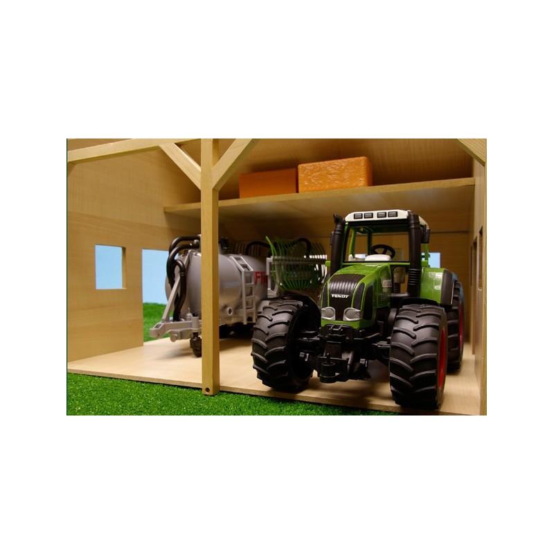 Hangar agricole en bois (1 16) KIDS610338 B u00e2timent Agricole Kids Globe MiniToys # Hangar Agricole En Bois