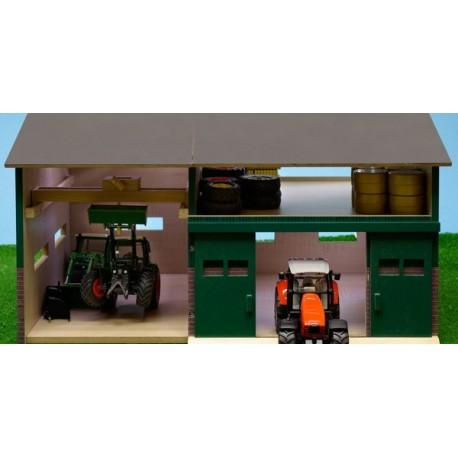 hangar en bois avec atelier 1 32 kids globe kids610410. Black Bedroom Furniture Sets. Home Design Ideas