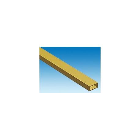 Tube rectangulaire en laiton 3,18 x 6,35 x L. 304 mm