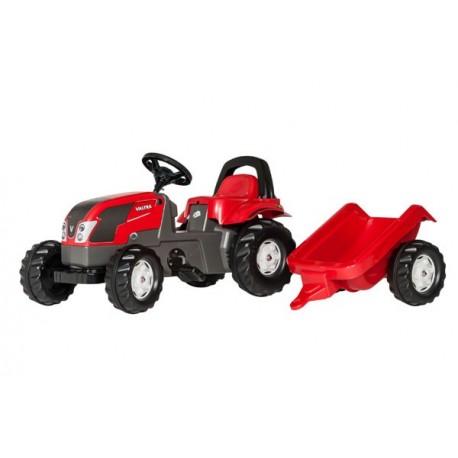Tracteur Rollykid Valtra avec remorque