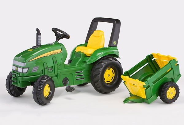 57f5c742cd08e4 Tracteur x-trac john deere avec remorque ROLLY035762  Tracteur à pédales  Rollytoys MiniToys