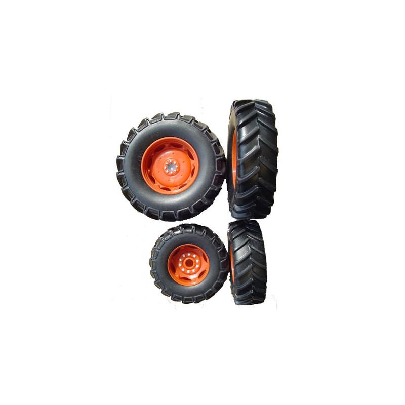 3 jeux de roues claas ares 657 4019 3 roues miniatures pi ces d tach es minitoys. Black Bedroom Furniture Sets. Home Design Ideas