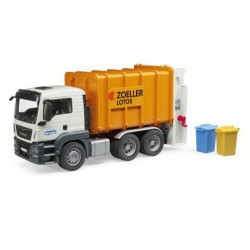 Camion poubelle MAN TGS blanc et orange