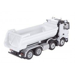 Camion benne MB Arocs 8x4 halfpipe blanc