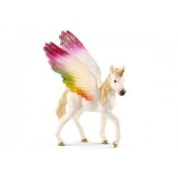 Licorne ailée arc-en-ciel, poulain