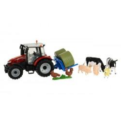 Tracteur MF 5613 avec animaux
