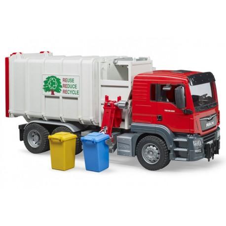 Camion poubelle MAN TGS chargement latéral