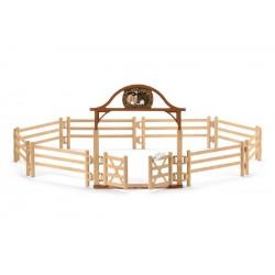 Manège pour chevaux avec portail