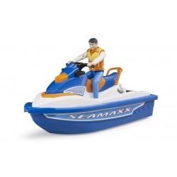 Scooter de mer avec figurine